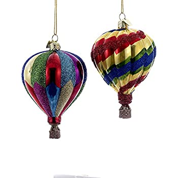Amazon.com: Kurt Adler 2 Assorted Multi-colored Hot Air Balloon ...