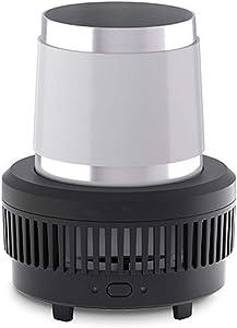 HEN'GMF Coffee Mug Warmer & Beverage Cup Cooling, Coffee Tea Drinks Mug Warmer Cooler Desktop Heating and Cooling Beverage Plate for Water Milk Beer,Black