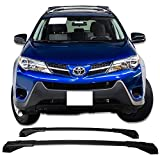 Cross Bars Fits 2013-2016 TOYOTA RAV4 | OEM Style Black Roof Top Bar Luggage Carrier by IKON MOTORSPORTS | 2014 2015