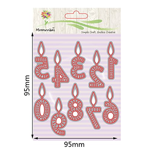 Cugap Embossing Metal Steel Cutting Dies Stencils Digital Candle Scrapbooking Album For DIY Scrapbooking Photo Album Paper Card Decorative Making Craft by Cugap (Image #4)
