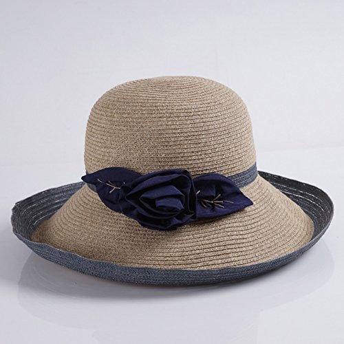 2 Hat Lz Primavera 2 color Crimping Lafite Sunscreen Holiday Verano Sun Straw Home Fashion EErwqxOB