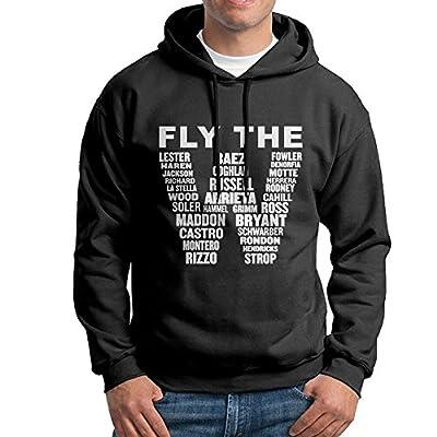 Men FLY THE W Pullover Hooded Sweatshirt Black