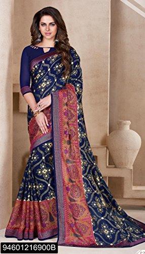 Blusa da EMPORIUM for Ethnic Casual Wedding Saree Light Women Indian ragazza Ladies Traditional Gerogette Sari ETHNIC Dress Designer Designer 2694 Printed f4vgP4wq