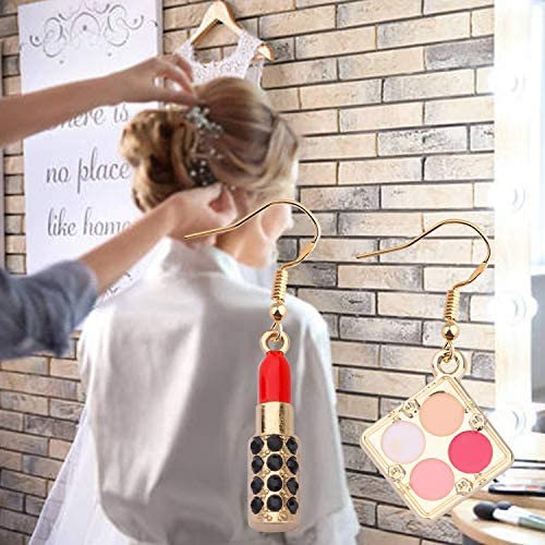 WSNANG Lipstick 3-d Earrings Estheticians Gift Makeup Artist Jewelry Gift for Women Teens Girl
