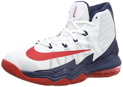 Nike Mens Air Max Audacity 2016 Basketball Sneaker 843884-600 (11.5, White/Midnight Navy/Pure Platinum/University Red)