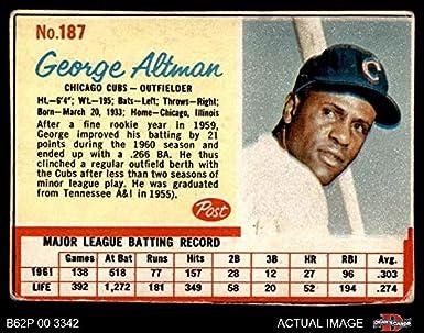 Amazoncom 1962 Post Cereal 187 George Altman Chicago