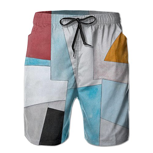 Mens Slim Fit Quick-drying Board Shorts/Abstract Frameless