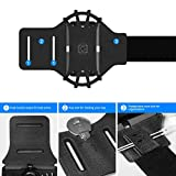 VUP Running Armband for iPhone 11 Pro Max X XR XS 8 7 6 6s Plus,Galaxy S10 S9 S8 Plus, Note 9/8/5/4,Google Pixel 3/2 XL,360°Rotatable with Key Holder Phone Armband for Hiking Biking