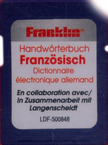Franklin Bookman SD-Karte. LDF-500848 Französisch: SD-Karte mit Langenscheidt HWB Deutsch<->Französisch