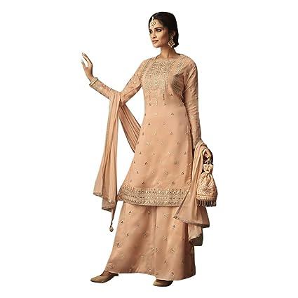 d8b721fa59 Amazon.com: Indian Pakistani Straight Kurti Salwar Kameez Suit ...