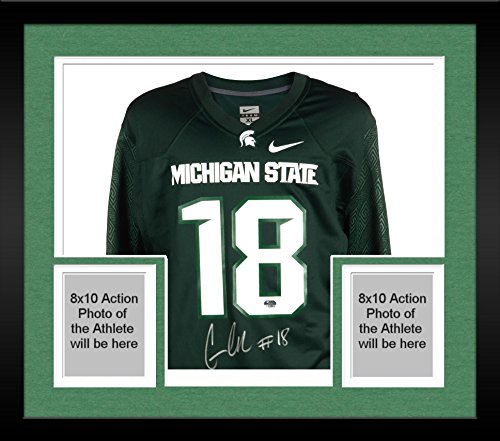Framed-Connor-Cook-Michigan-State-Spartans-Autographed-Green-Nike-Replica-Jersey-Fanatics-Authentic-Certified