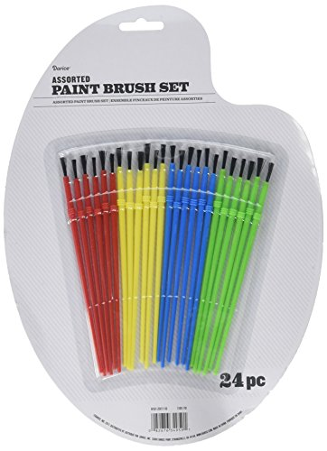 Darice Paint Brushes Plastic Handle Assorted Colors