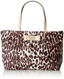 kate spade new york Veranda Place Nylon Small Evie Shoulder Bag,Leopard,One Size