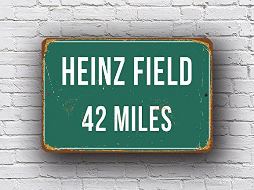 Mentalsign HEINZ FIELD DISTANCE Sign, Heinz Field Sign, Heinz Field home of Pittsburgh Steelers, Heinz Field Miles, Steelers Sign, Pittsburgh Steelers