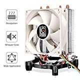 CPU Heatsink Cooler - 2 Direct Contact Copper Heat Pipes, Super Quiet, Well Assembly AMD & Intel CPU Cooler, Small CPU Tower Fan for Intel LGA 775/1150/1151/1155/1156 AMD AM2/AM3/AM4/FM1/FM2 Sockets