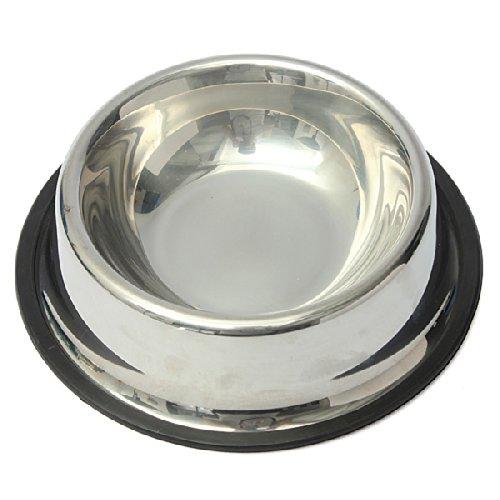 FOCUSPET Stainless Steel Pet Food Bowl Dog Cat Puppy Travel Feeding Feeder Water Dish New 17.5cm