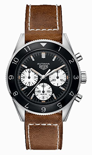Tag Heuer Heritage Black Dial Mens Chronograph Watch CBE2110.FC8226