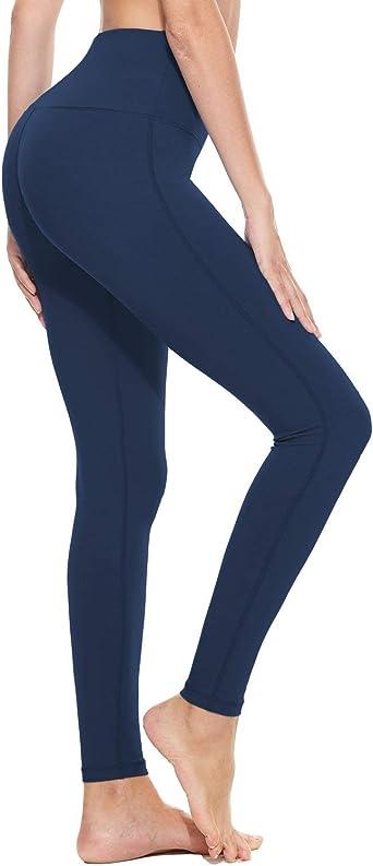 BALEAF Womens 23//25//27 High Waist Leggings Thin Warm Thermal Legging Tummy Control with Zipper Pocket Trail Tights