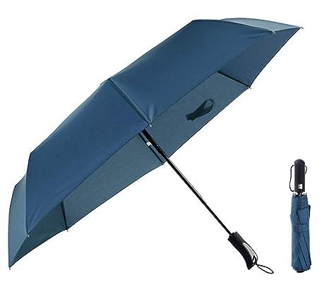 5be8535cb3 Ombrello automatico pieghevole da viaggio con apertura e chiusura  automatica Ombrello antivento nero leggero e robusto