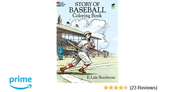 Story of Baseball Coloring Book: E. Lisle Reedstrom: 9780486267487 ...