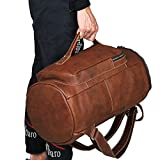 Jellybean Handmade Vintage Style Luxury Real Leather Backpack Travel Bag Holdall Weekend Bag Luggage Bag Overnight Bag
