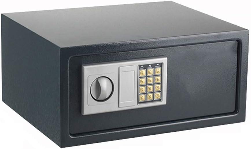 FRDF Mini Digital Cajas Fuertes, Acero con Omisión De Emergencia Key, Que Muy Bien Se Adapta A Una Amplia Gama De Elementos De Cuadro,Negro