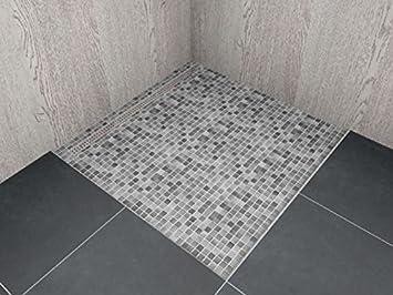 Häufig begehbare Dusche mit Rinne Maßanfertigung bis 1,4 m² - mit KU63