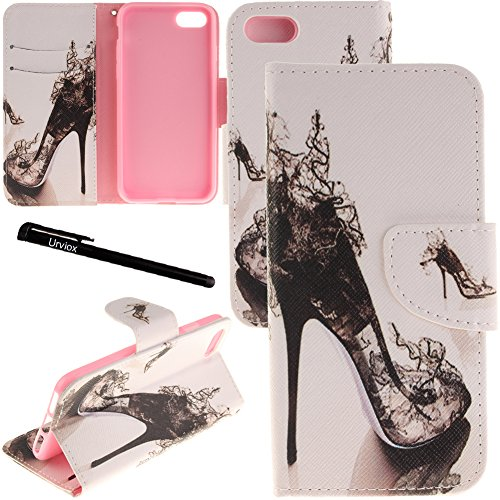 iPhone 7 Plus / 8 Plus Case, Urvoix Card Holder Stand Leather Wallet Case - High Heeled Shoe Flip Cover for 5.5