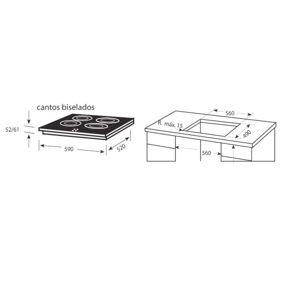 Edesa URBAN-VT330S - Placas Vitrocerámica radiante: Amazon ...