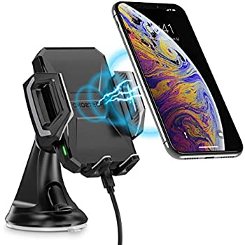 and All Qi Enabled Phones 4351663879 CUGear 10W Qi Fast Wireless Car Charger Automatic Clamping Mount with Air Vent Phone Holder Compatible iPhone X//Xs//Xs Max//8//8 Plus Samsung Galaxy Note 9// S9// S9+// S8// S8