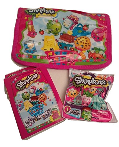 NEW Hot SELLER SHOPKINS Basket Gift Set Toddler Kids Teens Birthday Easter Christmas Holiday Carrier Who is the Shopper Cards Petkin Backpack (Robot Poppy compare prices)