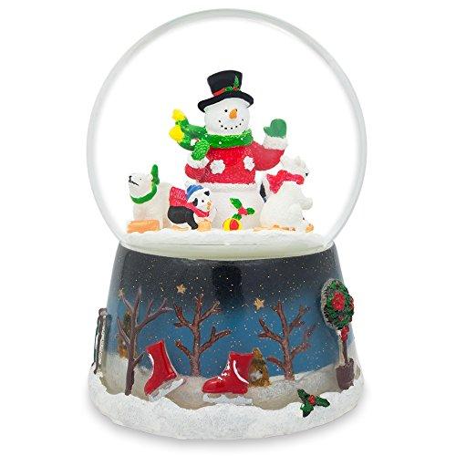 "5.5"" Snowman, Polar Bears, and Penguins Animated Rotating..."