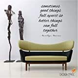 1 X Marilyn Monroe Wall Decal Decor Quote SOMETIMES GOOD THINGS ... Nice MATTE BLACK