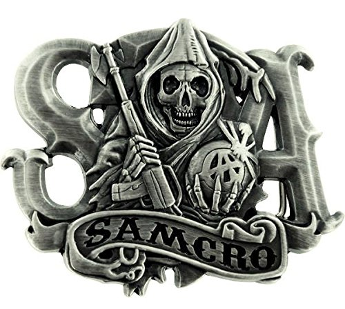 SAMCRO Sensenmann Metall-G/ürtelschnalle
