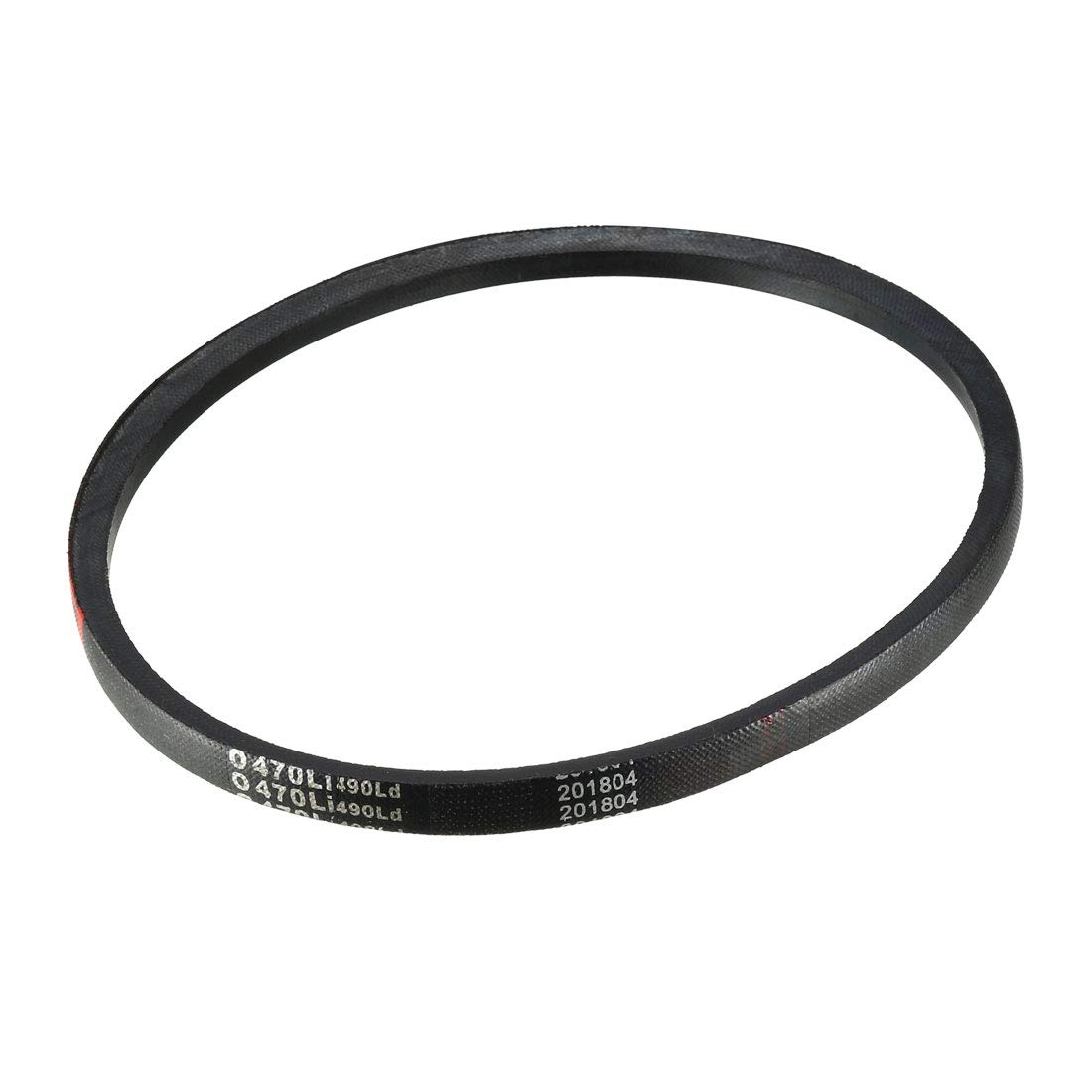 uxcell 0470Li V-Belt Machine Transmission Drive V Belt 20 Inches Rubber Replacement Black