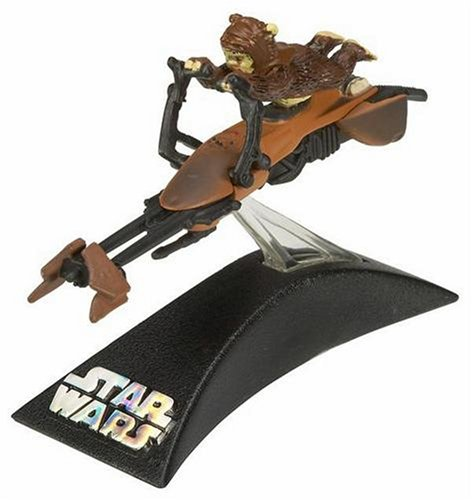 (Hasbro Titanium Series Star Wars 3 Inch Vehicles Stolen Imperial Speeder Bike with Paploo )