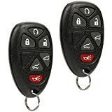 Car Key Fob Keyless Entry Remote fits 2007-2014 Chevy Tahoe Suburban / 2007-2014 Cadillac Escalade / 2007-2014 GMC Yukon (fits Part # 15913427, 20869057, 22756462), Set of 2