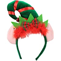 Longyitrade gorro de Navidad puntiagudo con plumas
