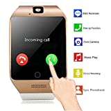 Bluetooth NFC Smart Watch with IPS Touch Screen Watch Phone with Sim Card Slot Camera for Android Men Women Boys Girls Samsung S5 S6 S7 Edge S8 Plus Note 8 5 4 J1 Mini Huawei Motorola LG BLU