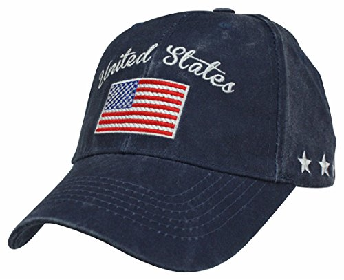 - Eagle Crest United States American Flag Navy Blue Ball Cap