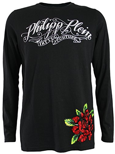PHILIPP PLEIN Herren Designer Longsleeve Shirt - PIRATE GIRLS -