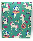Spiral Notebook 1 Subject College Ruled by Greenroom, 9'' X 11'', 70 pages (Festive Unicorns)