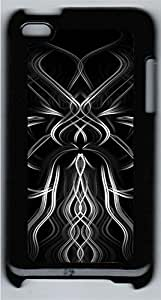 iPod 4 Case Black And White Patterned PC Custom iPod 4 Case Cover Black