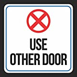 Aluminum Use Other Door Red White Black Print Not An Entrance Notice School PublicBusiness Signs Me, 12x12