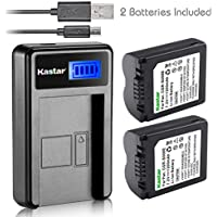 Kastar Battery (X2) & LCD Slim USB Charger for Panasonic CGA-S006, CGR-S006 and Panasonic Lumix DMC-FZ7, DMC-FZ8, DMC-FZ18, DMC-FZ28, DMC-FZ30, DMC-FZ35, DMC-FZ38, DMC-FZ50 Digital Camera