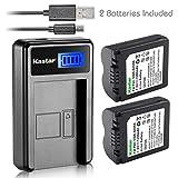 Kastar Battery (X2) & LCD Slim USB Charger for Panasonic CGA-S006, CGR-S006 and Panasonic Lumix DMC-FZ7, DMC-FZ8, DMC-FZ18, DMC-FZ28, DMC-FZ30, DMC-FZ35, DMC-FZ38, DMC-FZ50 Digital Camera
