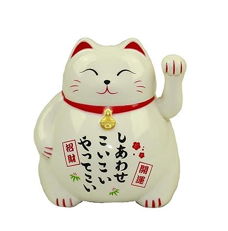 HAAC Gato de Gato de la Suerte Amuleto Color Blanco 10 cm