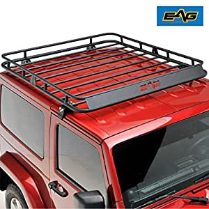 Amazon Com Eag 2 4 Door Roof Rack Cargo Basket Wind