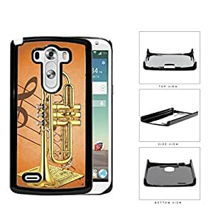 Trumpet With Musical Notes And Characters Hard Plastic Snap On Cell Phone Case LG G3