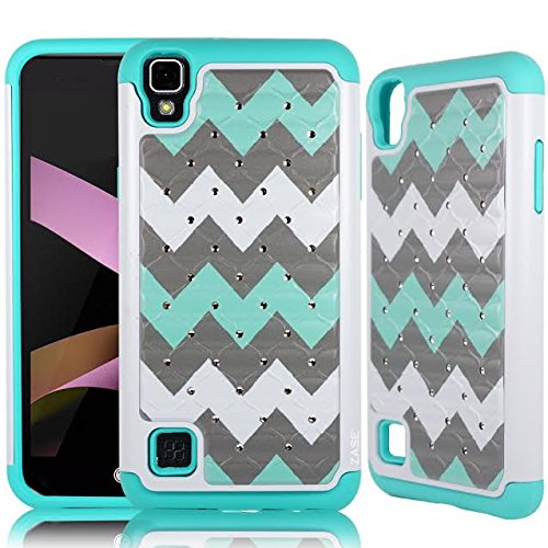 LG Tribute HD Case, LG X Style Case (Sprint Boost Virgin Simple Mobile) [Shock Absorption Impact Resistant] Dual